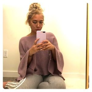 BP lavender kimono arm sweater